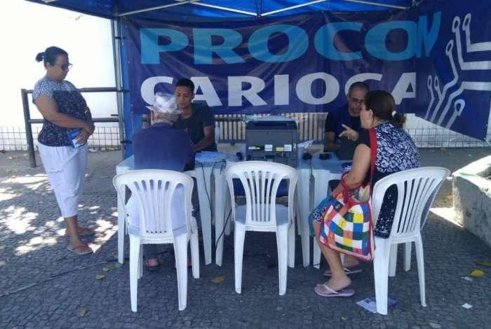 Atendimento itinerante do Procon Carioca