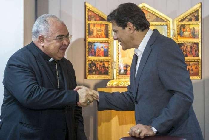 Haddad se encontrou com o cardeal arcebispo do Rio, Dom Orani Tempesta