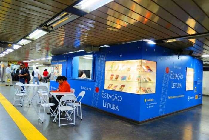 Estação Leitura - Biblioteca fica na Central do Brasil