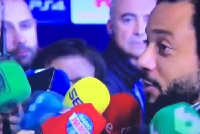 Marcelo discutiu com jornalistas após jogo da Liga dos Campeões