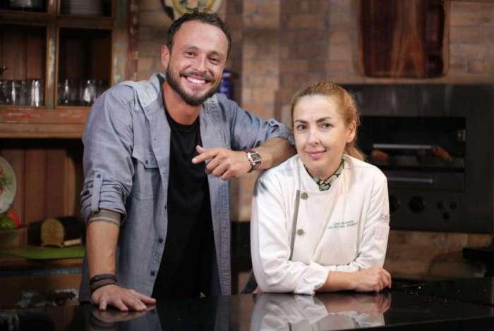 Jornalista Rafael Paiva e a chef Gisela Abrantes