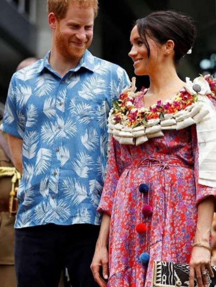 Meghan e Harry em evento nas Ilhas Fiji