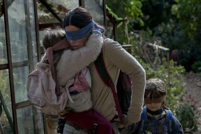 Sandra Bullock em cena de 'Bird Box', que tem previsão de estreia para o dia 21 de dezembro