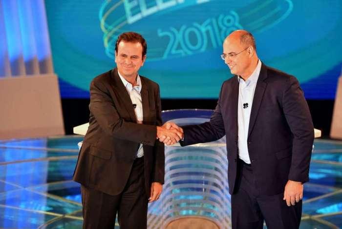 Paes e Witzel participaram de debate durante campanha no ano passado