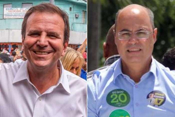 Eduardo Paes e Wilson Witzel