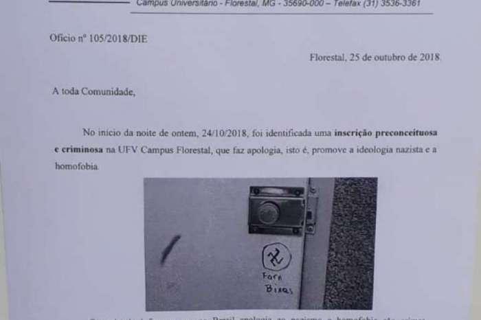 Imagens enviadas por alunos da Universidade para O DIA mostram a nota emitida pelo Diretor de Ensino