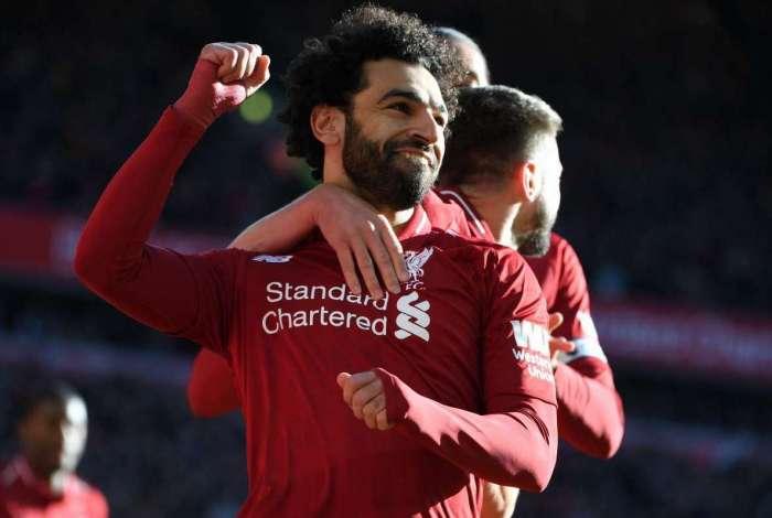 Salah fez um dos gols da goleada sobre o Cardiff