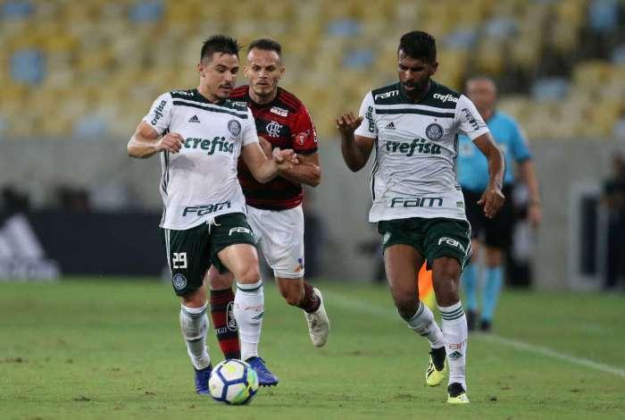 Empate com o vice-líder Flamengo, na 31ª rodada, garantiu folga ao Palmeiras no restante do campeonato