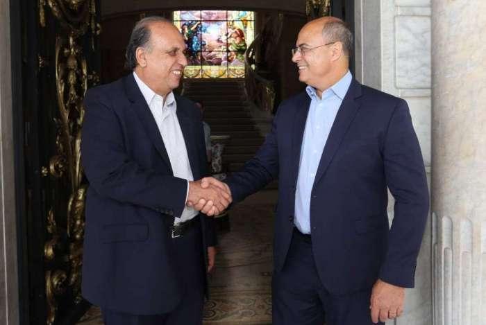 O governador eleito Witzel fez uma visita de cortesia a Luiz Fernando Pezão, no Palácio Guanabara