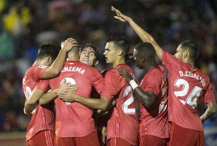 Vinicius Junior fez sua estreia como titular pelo Real
