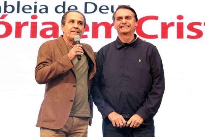Bolsonaro foi à igreja de Malafaia na noite desta terça