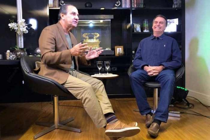 Silas Malafaia e Jair Bolsonaro em entrevista durante campanha