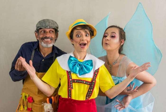 Parte do elenco: Silvia Barteli como Pinocchio, Elisa Angélica será a fada, e Ismar Martins como Gepetto
