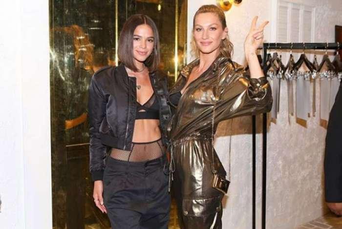 Bruna Marquezine e Gisele Bündchen em inauguração de loja em Los Angeles