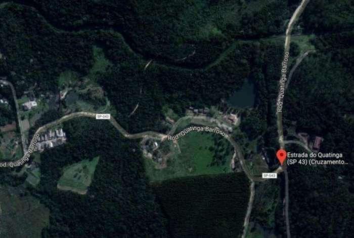 Região onde helicóptero caiu
