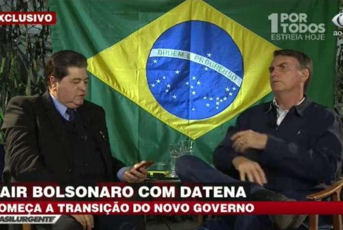 Em entrevista à TV Bandeirantes, Bolsonaro disse que redução da maioridade penal e a flexibilização do Estatuto do Desarmamento não serão deixadas de lado mesmo que Moro pense de forma oposta