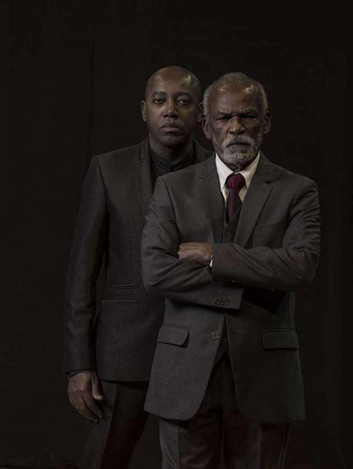 Nando Cunha e Antonio Pitanga na peça 'Filho do Pai'