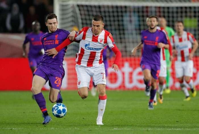 Liverpool foi surpreendido na Sérvia
