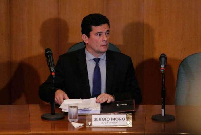Juiz federal Sergio Moro concede primeira coletiva de imprensa na Justiça Federal em Curitiba após ser anunciado como ministro do governo Bolsonaro