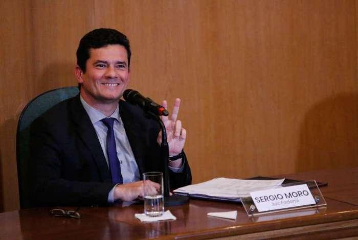 Sergio Moro em coletiva de imprensa