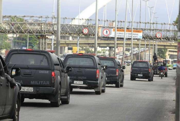 Policiais do Batalhão de Choque (foto) fazem operação no Complexo da Maré