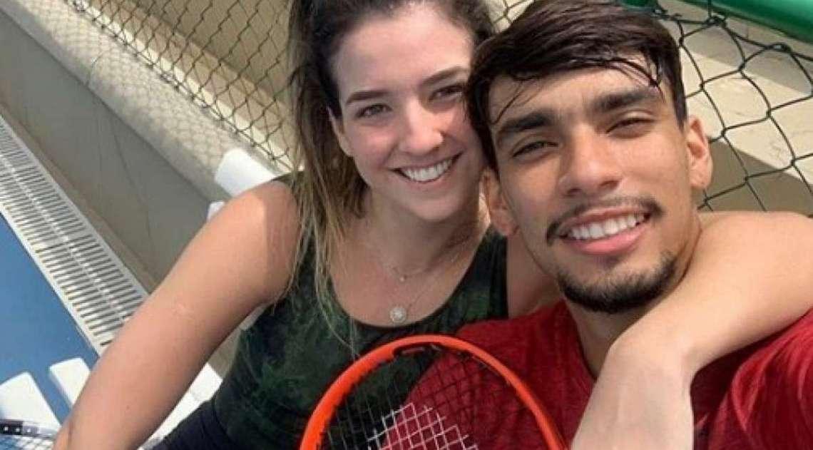 Lucas Paquetá e Maria Eduarda Fournier