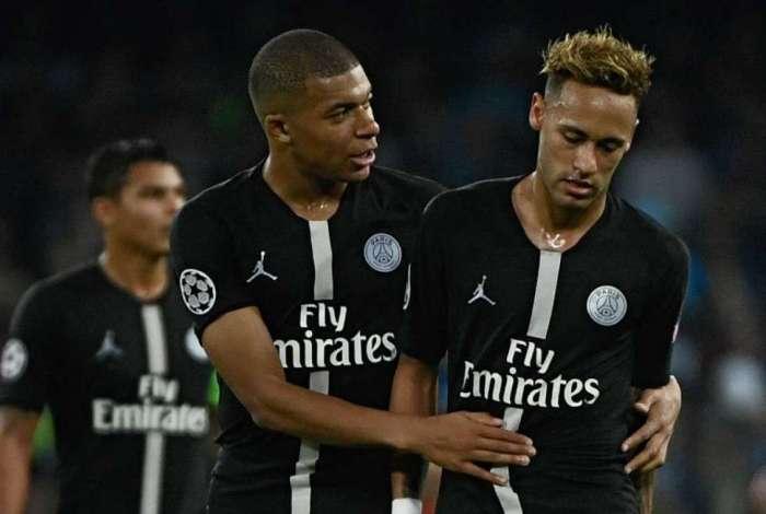 Neymar desfalca o PSG