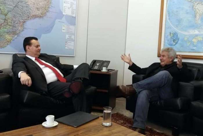 Pontes se encontrou com o atual ministro da Ciência e Tecnologia, Gilberto Kassab