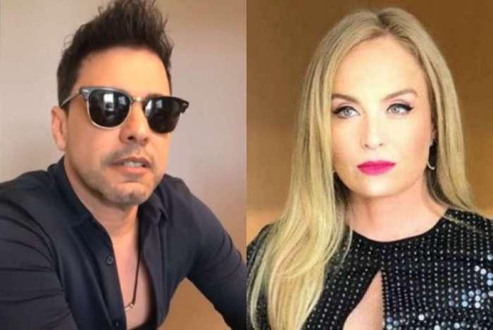 Zezé Di Camargo e Angélica negam romance