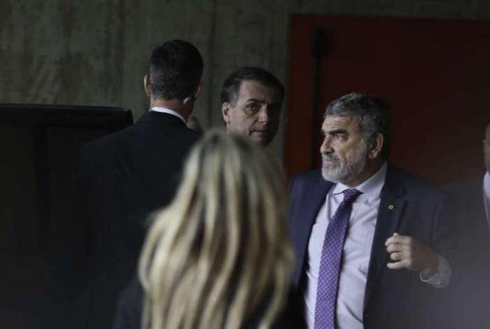 Presidente eleito Jair Bolsonaro no Centro Cultural Banco do Brasil (CCBB), em Brasília, onde funciona o gabinete de transição de governo