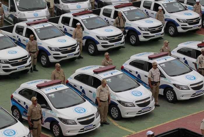 Nova frota de veículos da Guarda Municipal foi entregue nesta segunda-feira na sede da instituição, em São Cristóvão