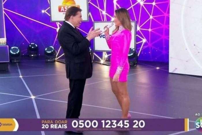 Silvio Santos e Claudia Leitte no 'Teleton'