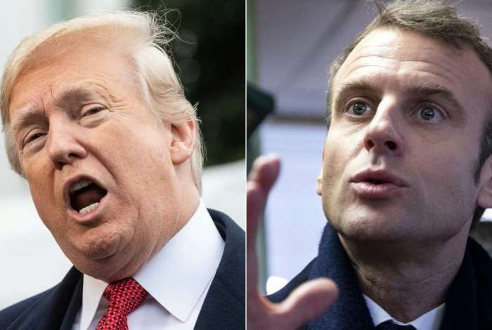 Trump critica Macron por proposta de fazer um Exército europeu
