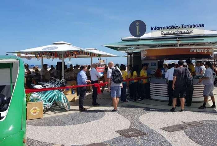 Posto de Atendimento ao Turista é inaugurado em Copacabana
