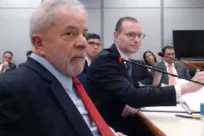Ex-presidente Lula em depoimento à Justiça Federal