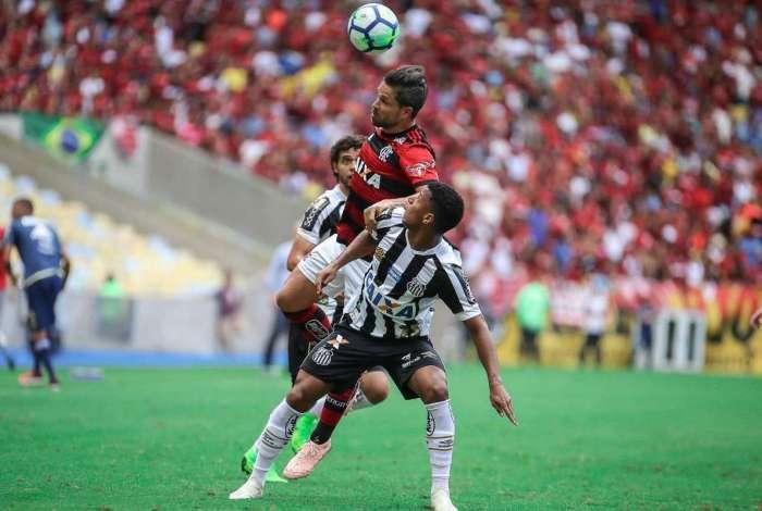 Flamengo derrotou o Santos por 1 a 0
