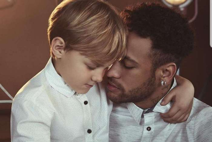 Neymar e o filho, Davi Lucca