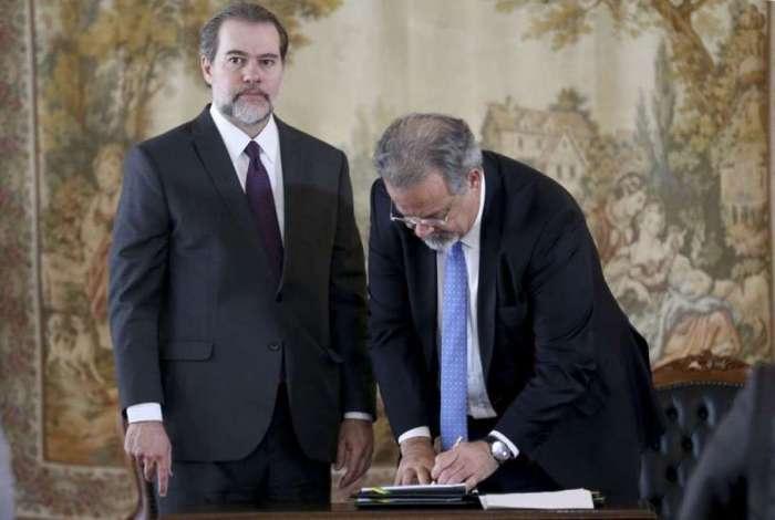 Dias Toffoli e Raul Jungmann assinam convênio para criação do sistema que unifica os processos de execução da pena no país