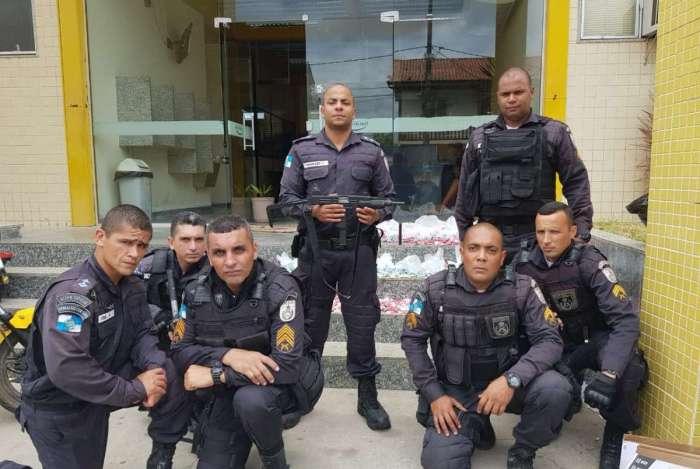 Policiais responsáveis pela operação