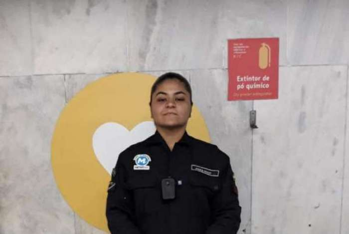 Agente de segurança Jéssica Araújo, que fez o parto do bebê