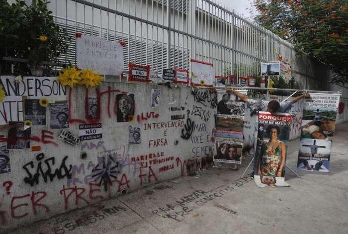 Protestos e homenagens no Estácio