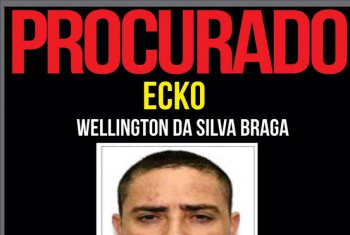 Ecko é apontado como o líder da maior milícia do Rio e há uma recompensa de R$ 10 mil por sua captura