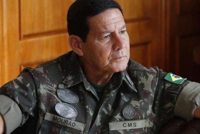 Vice- presidente eleito, General Antônio Mourão