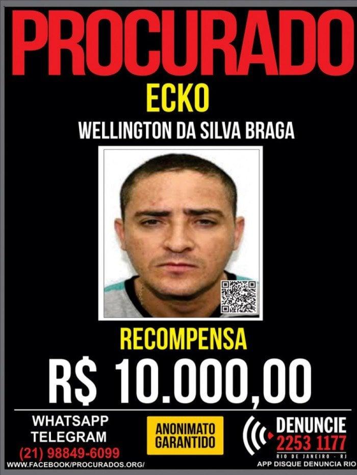 Portal dos Procurados divulgou ontem o cartaz com nova recompensa. Ecko é acusado de liderar a Liga da Justiça