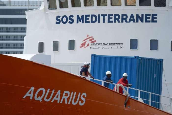 A Justiça italiana que embragar o navio de resgate humanitário 'Aquarius', que está atualmente bloqueado em Marselha