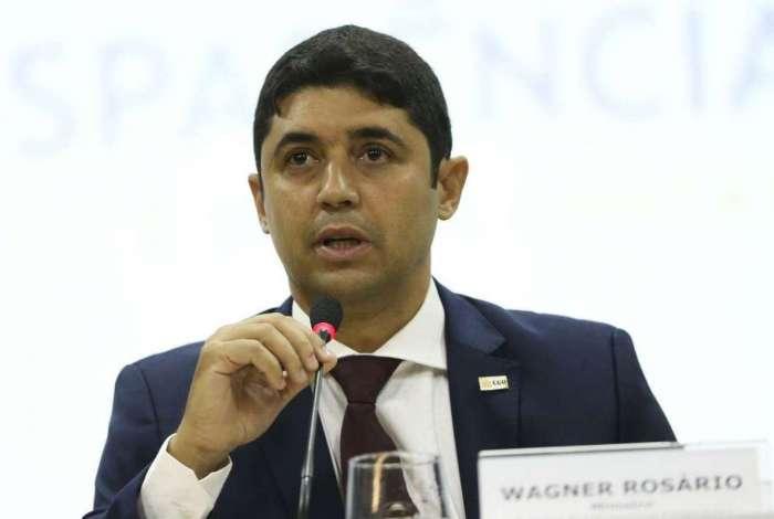 O ministro da Transparência e Controladoria-Geral da União (CGU), Wagner Rosário, durante o lançamento do novo Portal da Transparência do governo federal