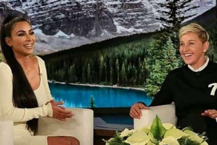 Kim Kardashian no programa 'The Ellen Show'