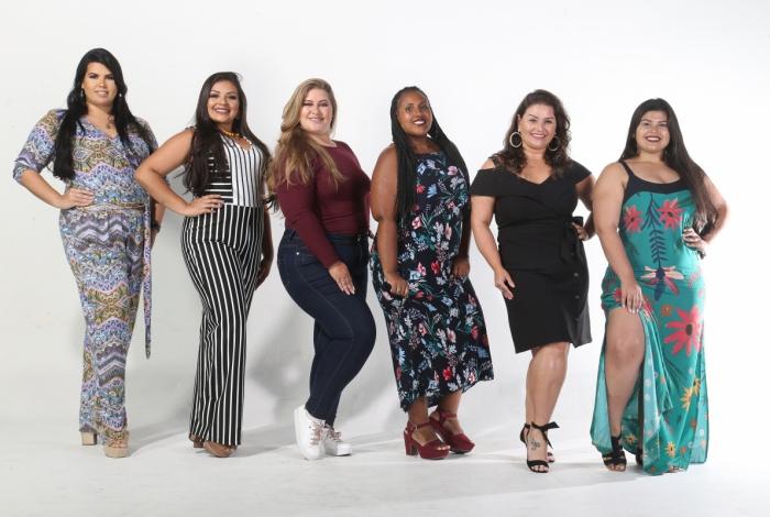 Algumas das 17 modelos que irão disputar o título amanhã, na Casa dos Advogados