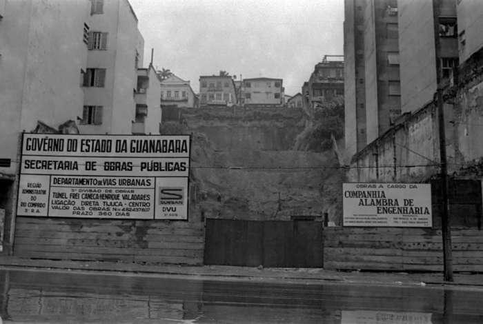 Início das obras do Túnel Frei Caneca