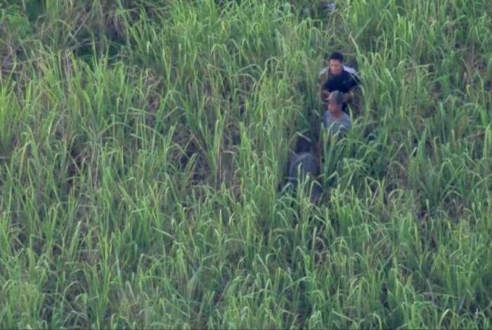 Suspeitos foram flagrados pelo Bom Dia Rio passando informações sobre o posicionamento dos agentes na comunidade